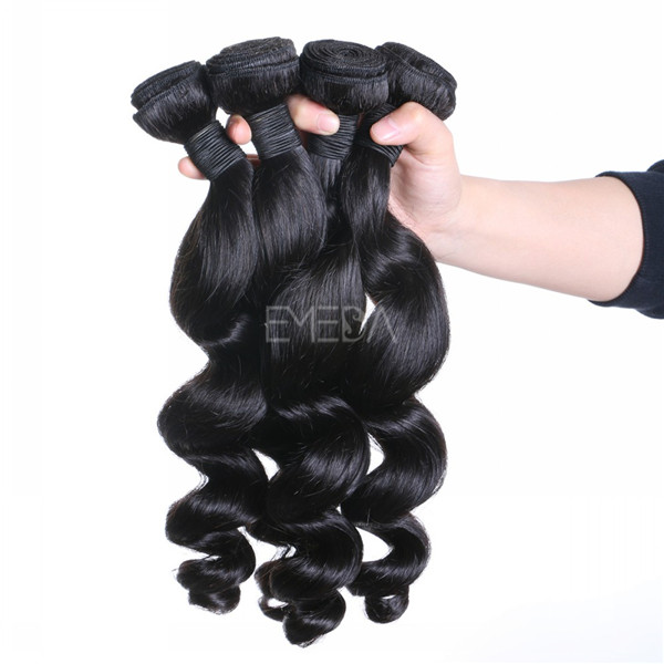Malaysian human hair unprocessed hair weaves  zj0023