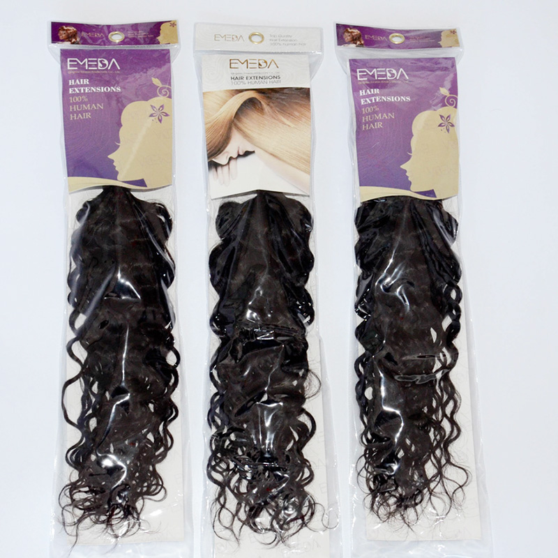 Natural Wave Loose Wave Virgin Human Hair weft Unprocessed Curly Hair Extensions YL331