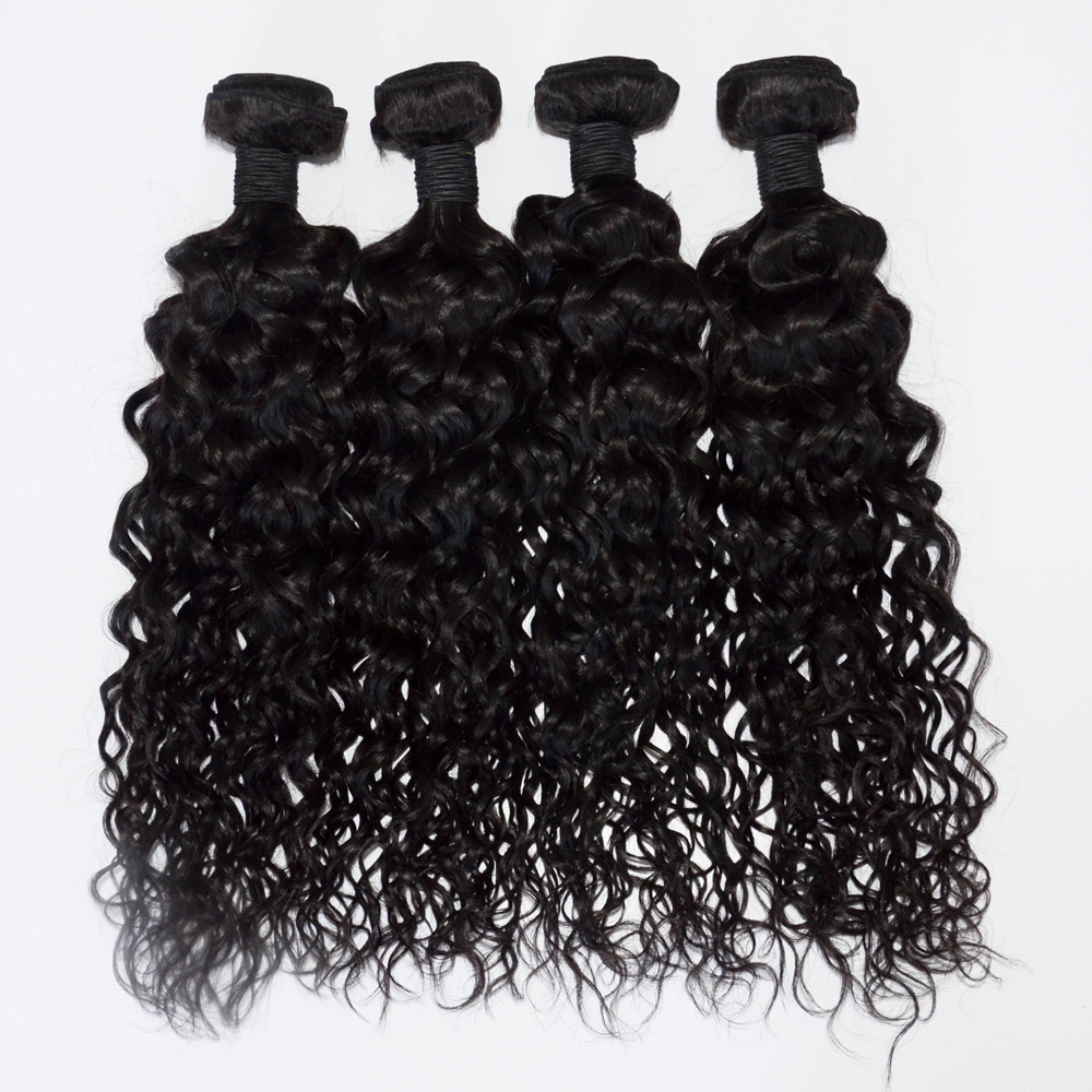 Cheap deep wave unprocessed brazilian human hair weft YJ189