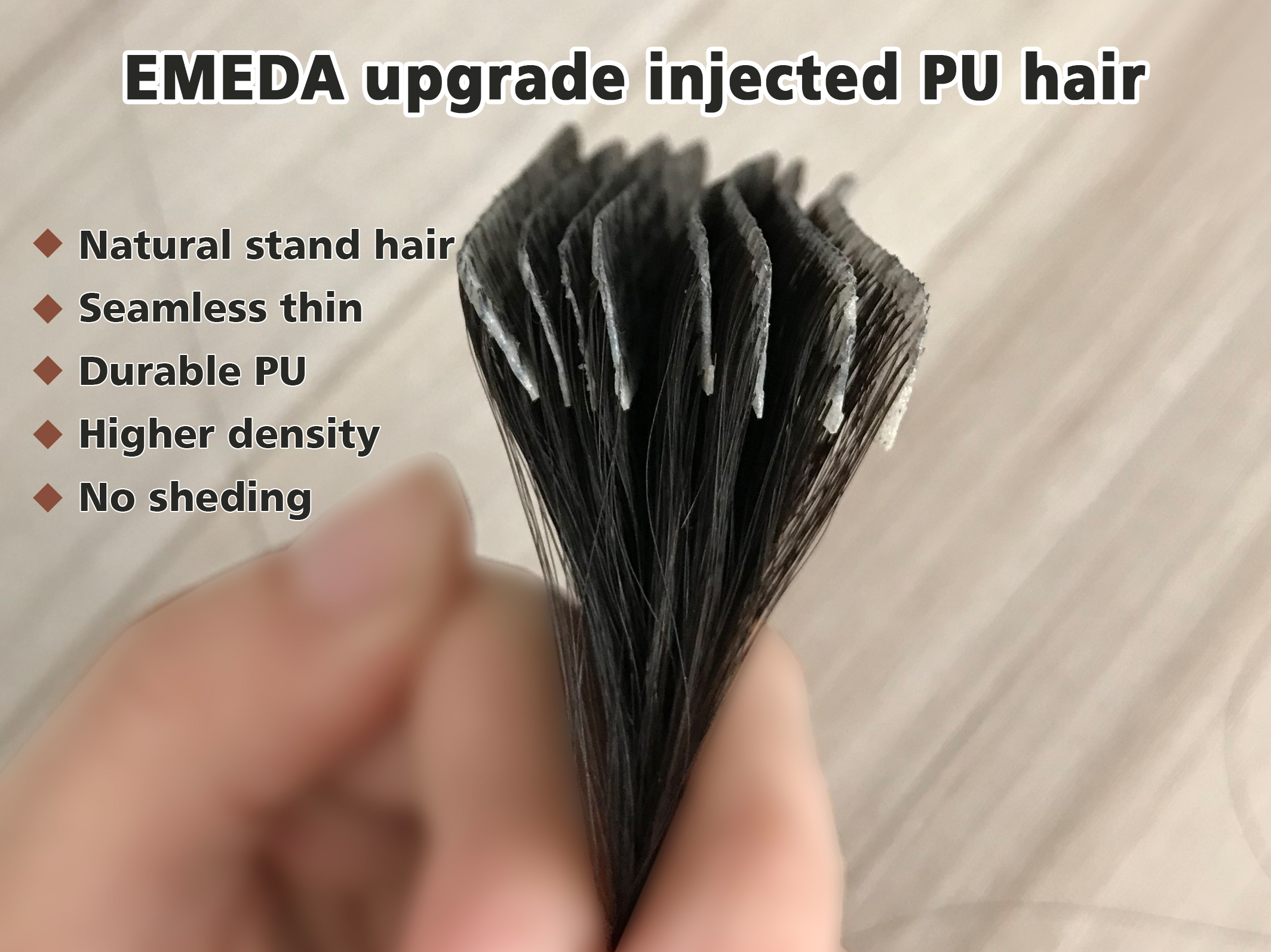 New product!Stand hair! Best natural injected PU h...</>
