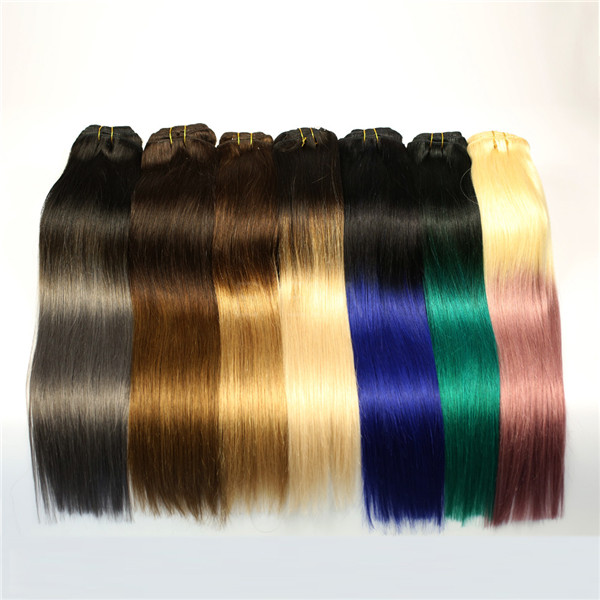 Two tone ombre colored hair weave bundles LJ223