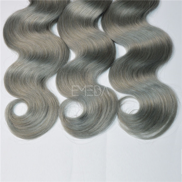Silver 2T 3T ombre braiding hair human,raw ombre bundles hair weaves,virgin blonde silver gray hair extension HN247