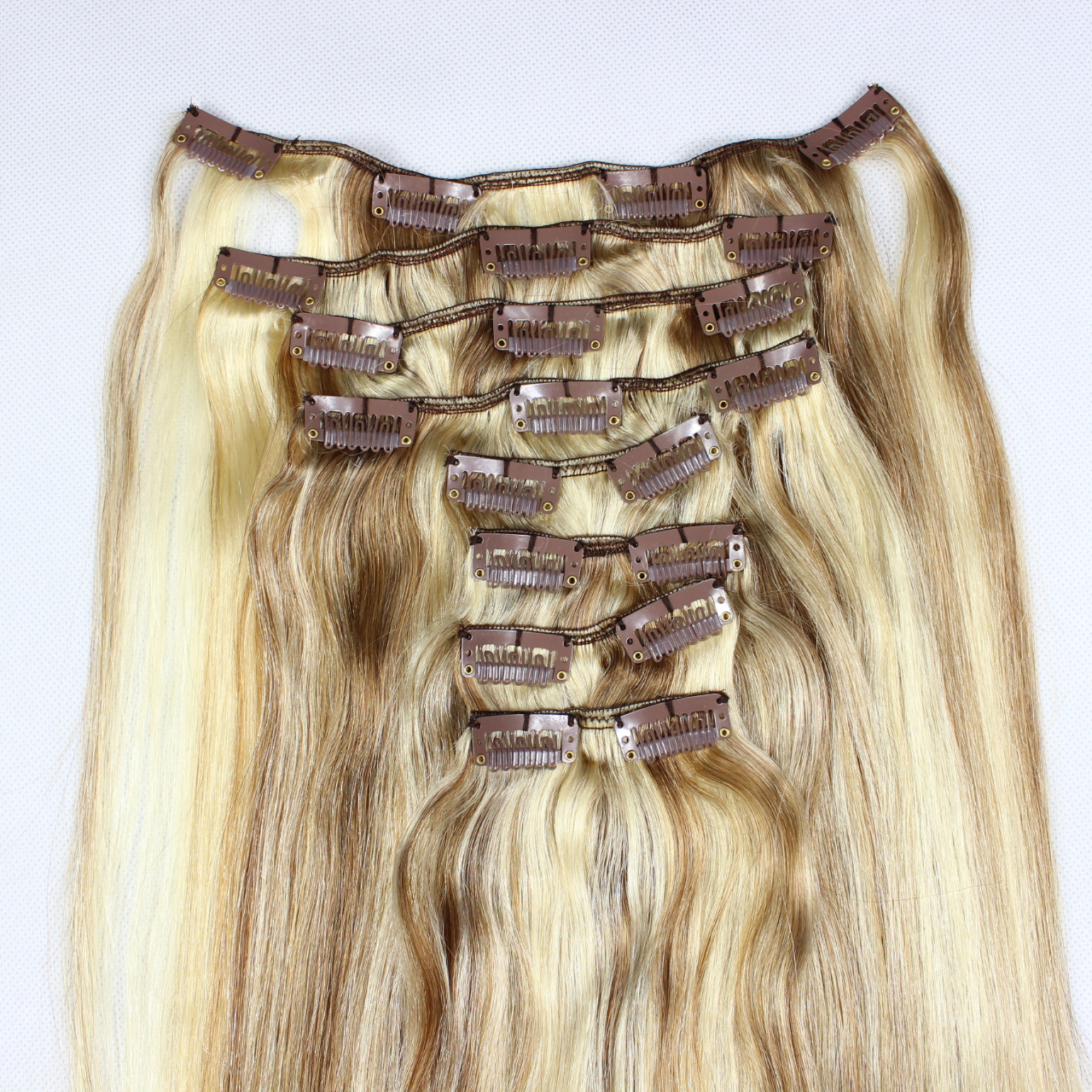 P Color Double Drawn Remy Hair Clip In Hair Extensions Zj0033