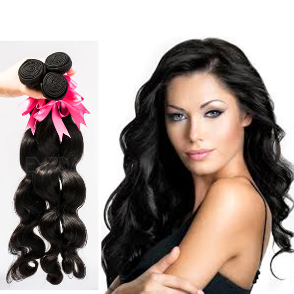 Grade 7A body wave natural color Peruvian cheap real hair extensions YJ