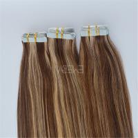 Grade 7A double drawn piano color Peruvian taped hair extensions YJ109