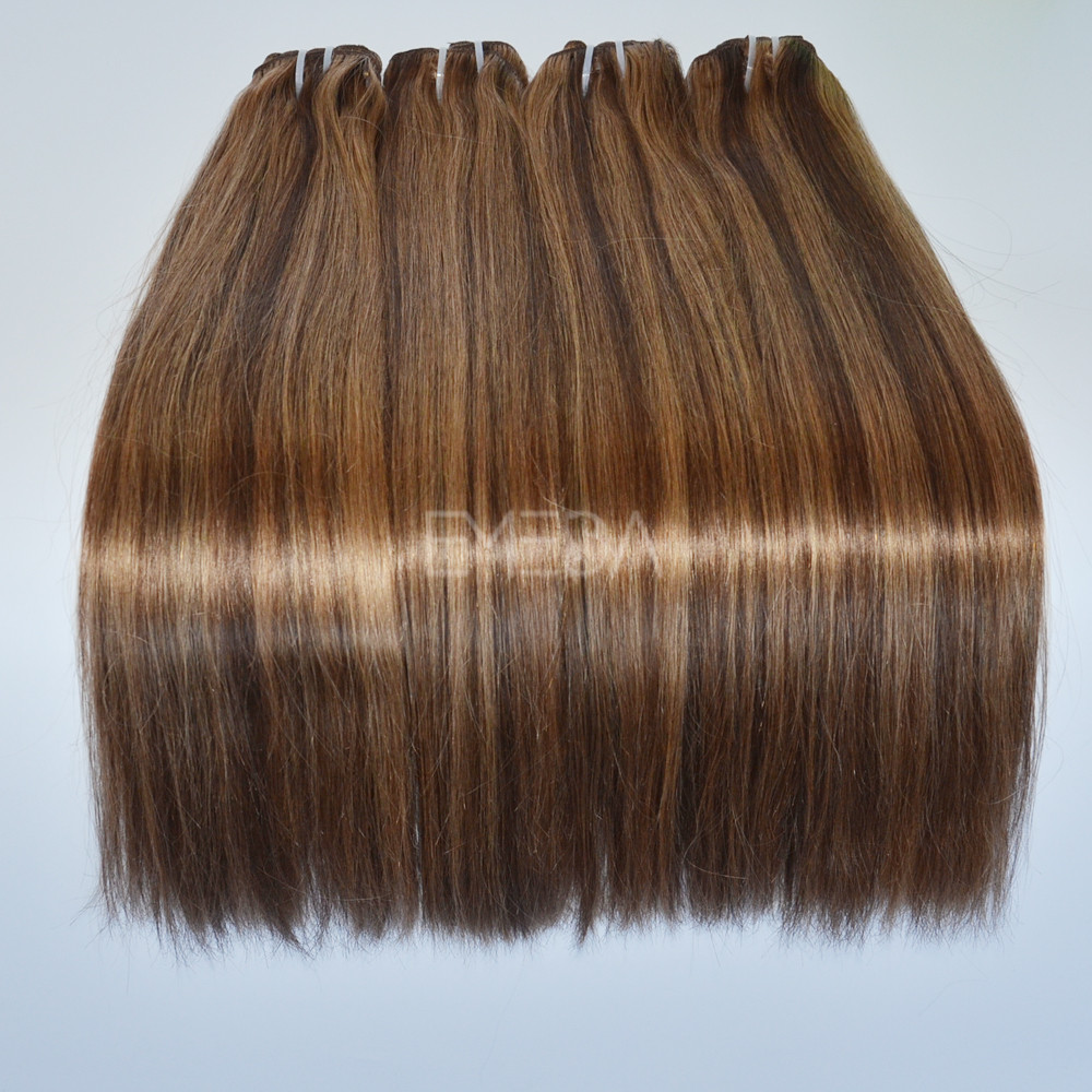 Brown And Blonde Color Piano Color Clip In Hair Weft Lj170 Emeda Hair