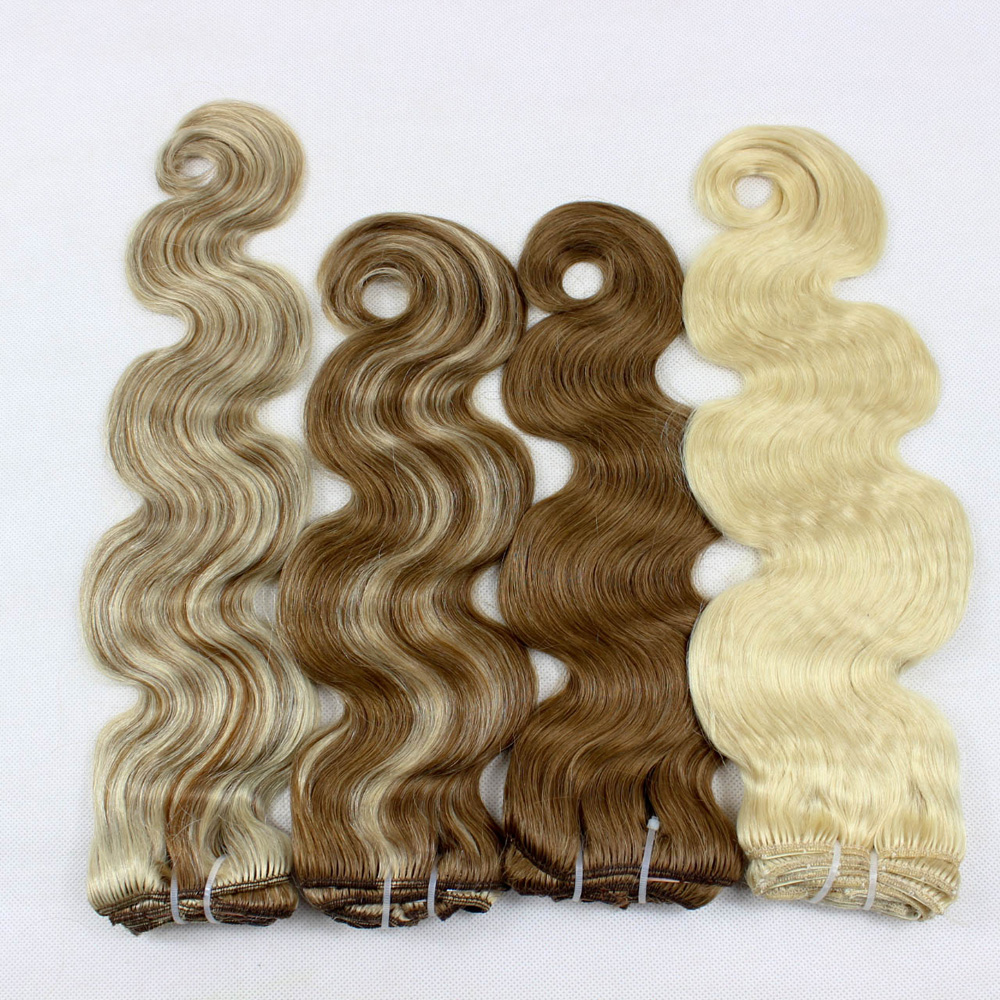 Human hair extensions virgin hair two tone color weave  YL 396