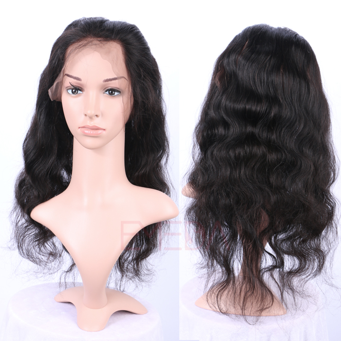 EMEDA Peruvian  Hair 360 Lace frontal Body Wave 360 Lace Virgin Hair Pre Plucked Lace Frontals HW039