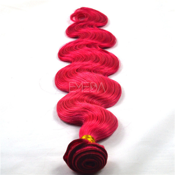 Qingdao Emeda hair factory red hair extension bundles,raw virgin cuticle aligned hair HN171