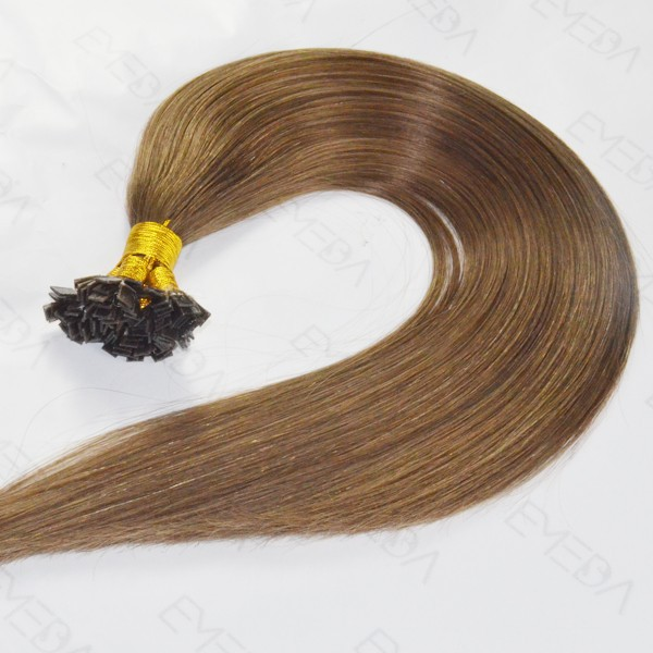 China Invisible Human Hair Extensions Supplier Remy Double Drawn Keratin Hair Extensions Factory LM348