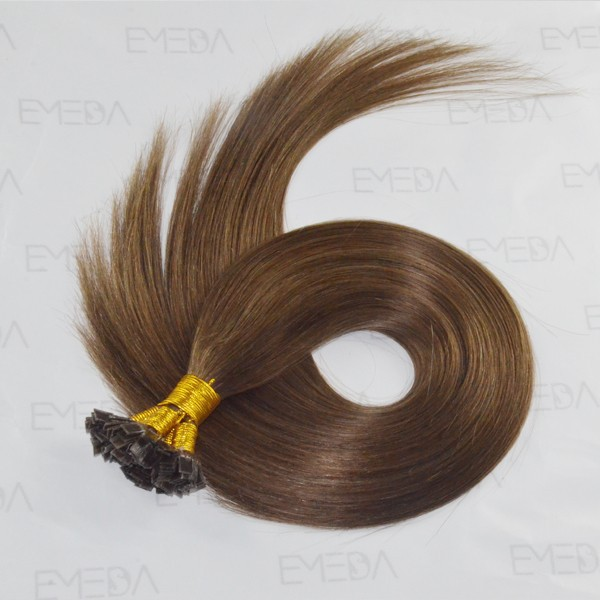 Remy hair extensions pre-bonded Brazilian flat tip hair     LM009