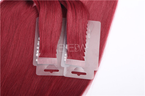 Remy hair red color tape hair extensions ZJ0047