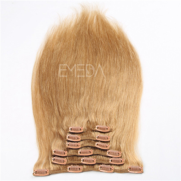 Double Drawn Russian Hair Clip In Extensions YJ242