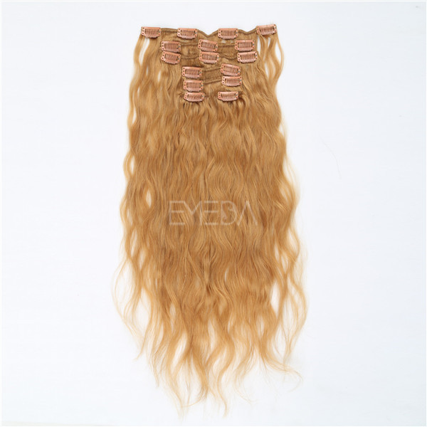 Wavy Blonde Human Hair Extensions 48