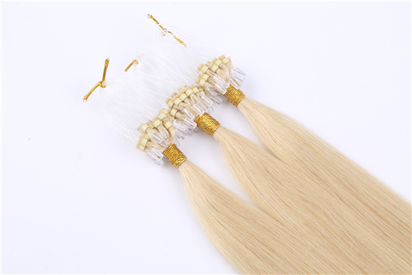 micro ring loop hair extensions with virgin human hair JF055