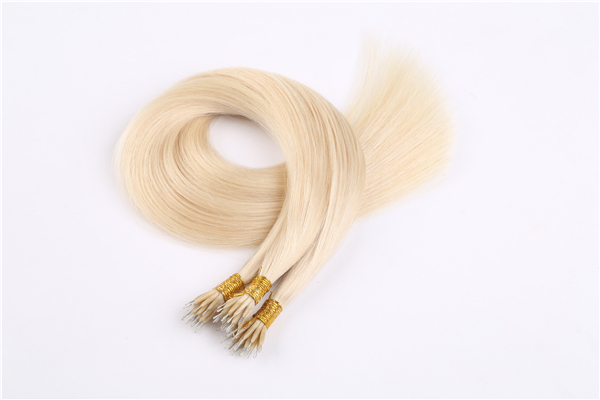 100% blonde hair extensions keratain I tip hair extensions