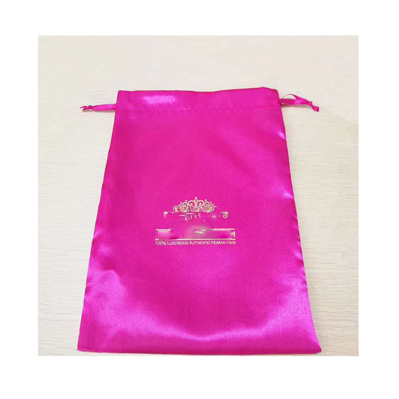 Satin bags for hair bundle and wigs virgin hair package bag custom bag YL316