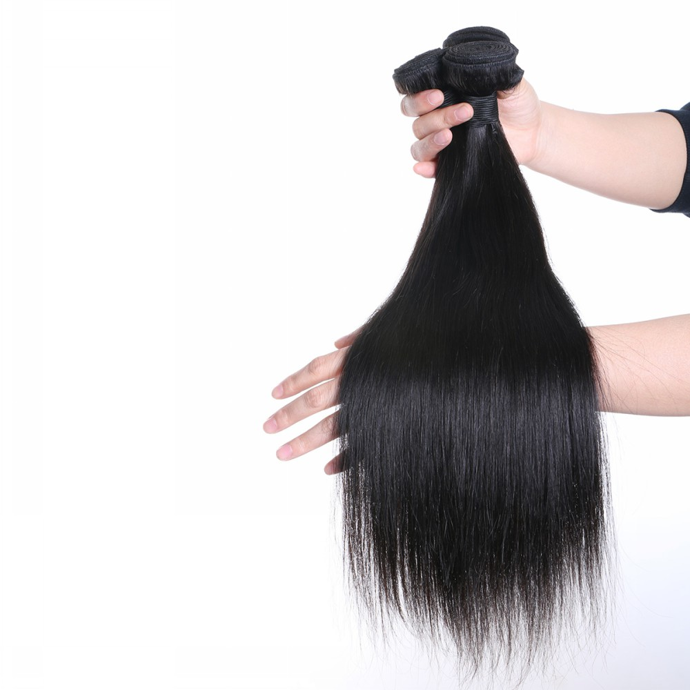Straight brazilian hair weave  natural human hair best human hair weave YL002