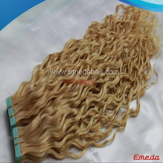 Tape hair extensions with high grade