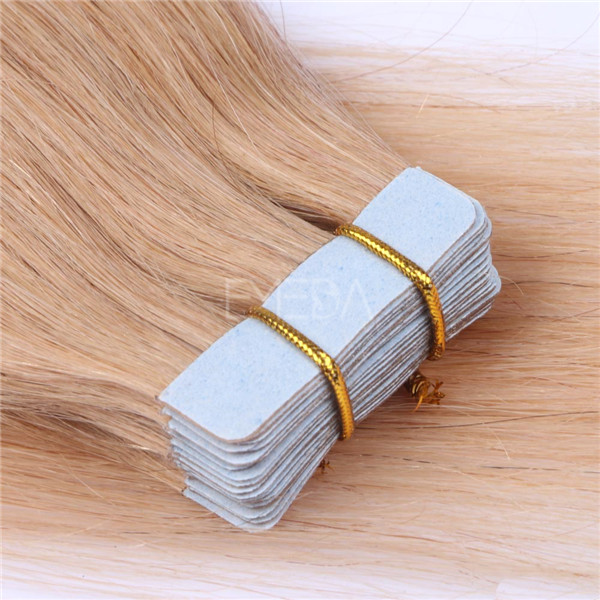 Tape in hair extensions double drawn human hair  Light brown 100 Brazilian hair YL132