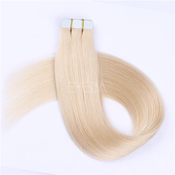 Tape in Human Hair Extensions Brown Color #8 Tape on Skin Weft Real Human Hair Glue YL334