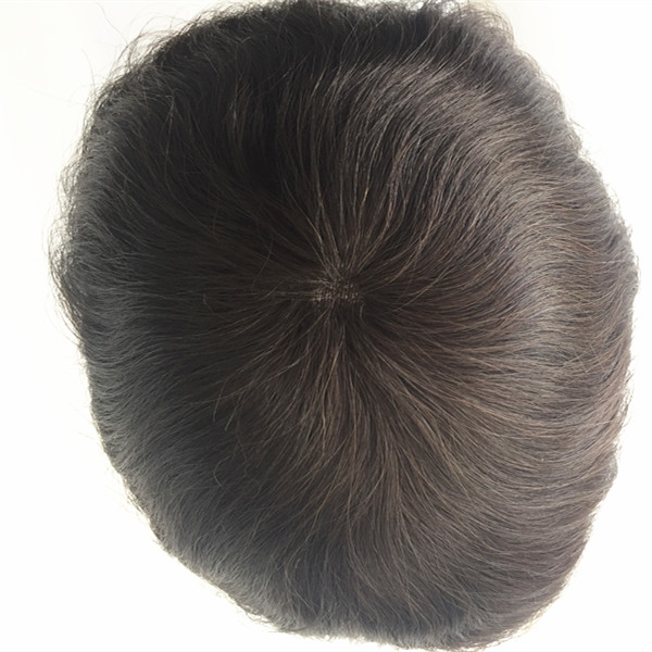 Thinskin style human hair toupee for men 1B# 1# top quality in stock YL139