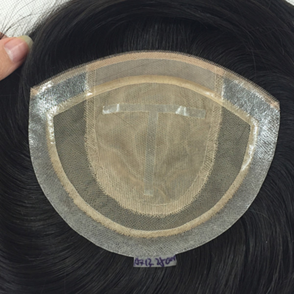 Toupee hair for women,female toupee  human hair natural color hidden knots silk base toupee in stock.HN190
