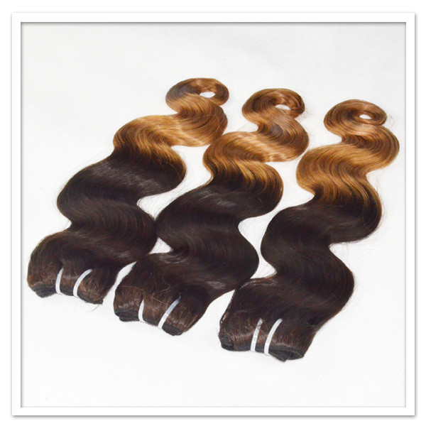 Two tone ombre color body wave hair weave  zj0039
