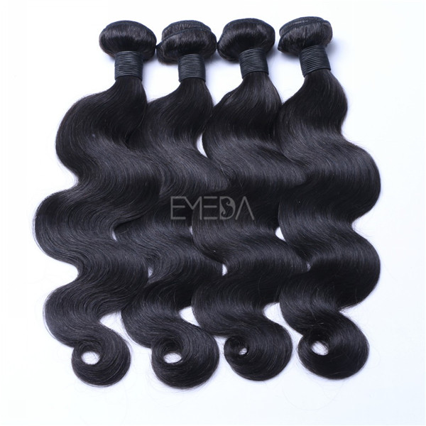 Unprocessed human hair natural hair weft     zj0040