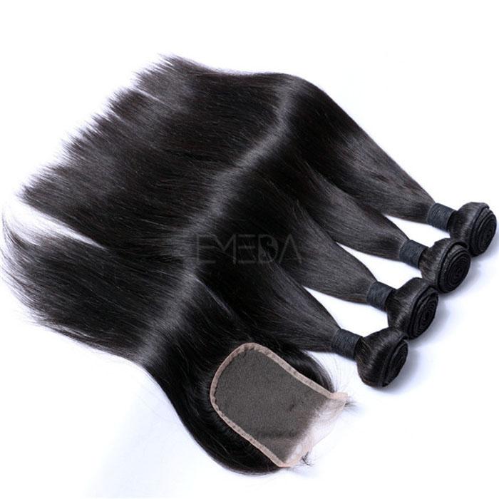 Brazilian Hair Weave Bundles With Closure Wholesale Hair Extensions