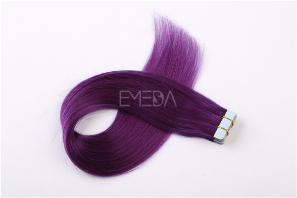 Violet human hair tape hair extension  ZJ0049