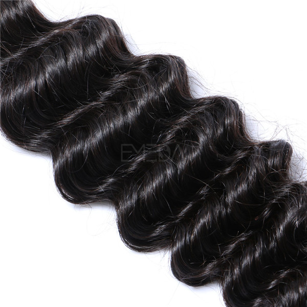 Brazilian Human Hair Bundles Natural Black Deep Wave Large Stock Hair Weaves  LM046