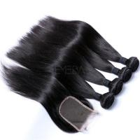 EMEDA Brazilian Virgin Hair Silk Straight Black Hair Extensions HW005