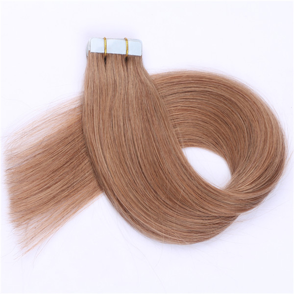Wholesale top grade 100% unprocessed brazilian tape in  remy human hair extension XS080
