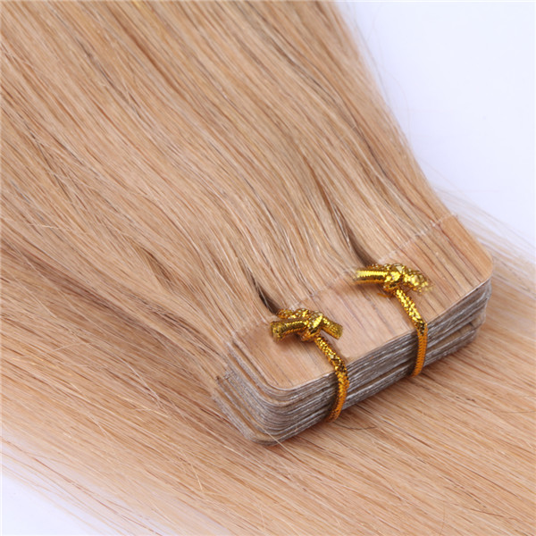 Wholesale double drawn high quality brazilian straight tape in extensions cost XS087