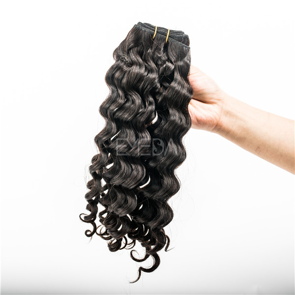 Indian virgin double drawn water curly cc hair extensions YJ56