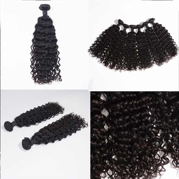 China supplier unprocessed 7A curly hair extensions  LJ24