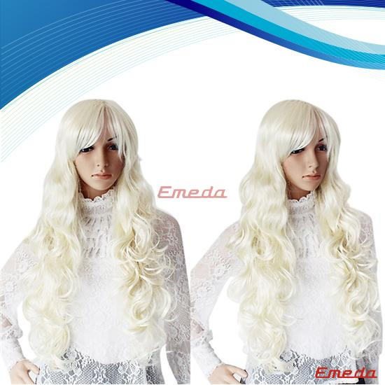 long silver cosplay wig