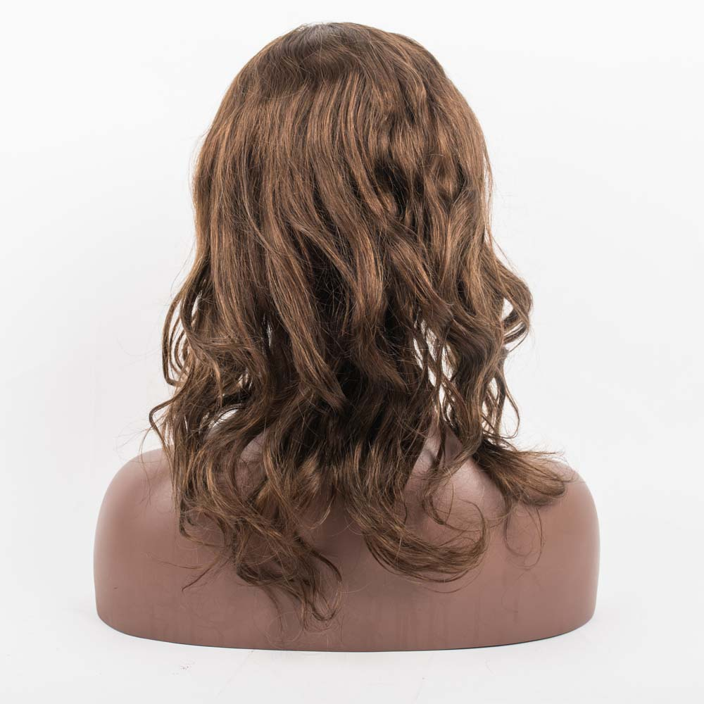 Natural wavy brown color lace wig  LJ181
