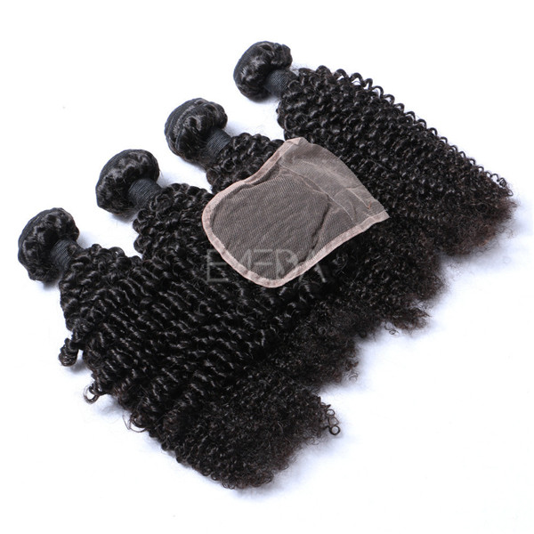 Discount human hair extensions cheap with lace closure YJ232