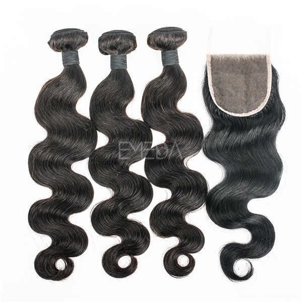 Body wave Peruvian hair with lace closure lp