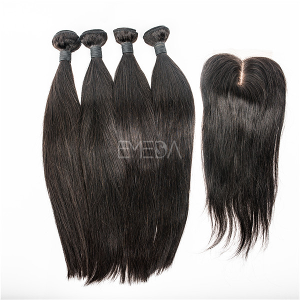 Hot Sale Hair Weave With Lace Closure In Uk Lp115 Emeda Hair