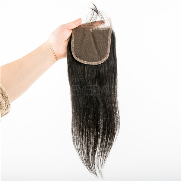 Virgin Hair Closures 4*4 Best Lace Medium Human Hair Weave With Closure Piece LM435