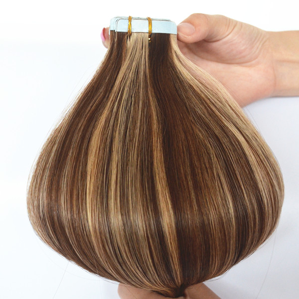 Tape hair extensions with cuticle hair color piano 28/4-lp94