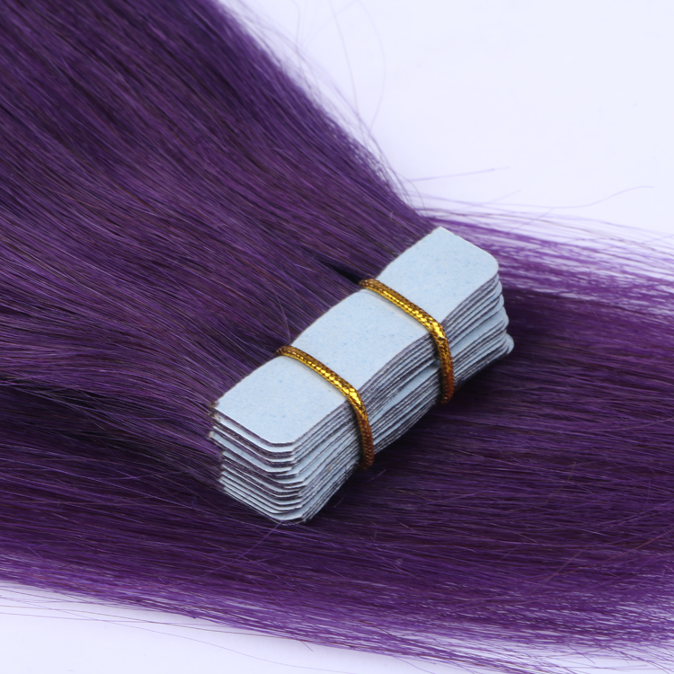 Tape in best human hair extensions SJ00109