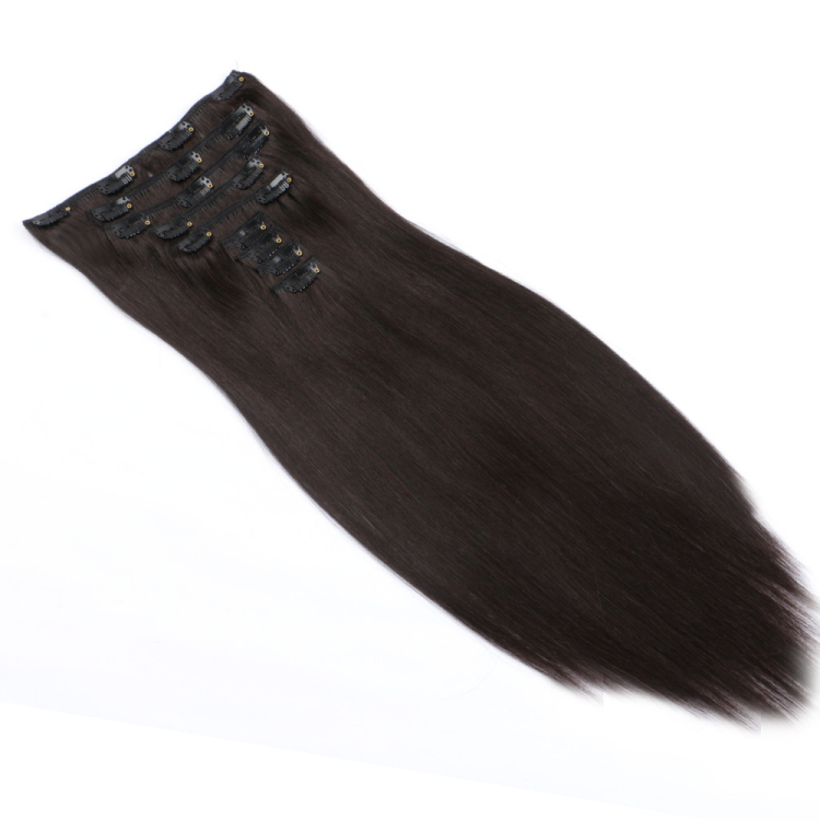 Clips in 100 real hair extensions remy real human hair SJ00126