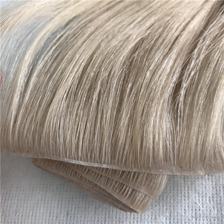 Best hand injected super thin invisible natural skin PU weft seamless hair extensions yj308