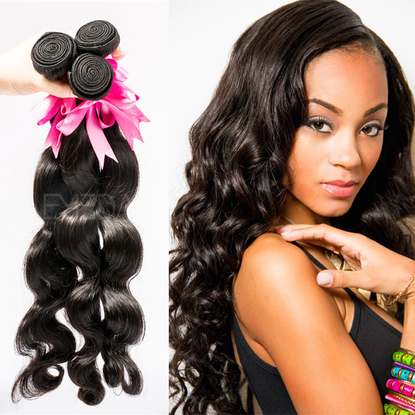Grade 8A Mongolian human black hair extensions uk YJ