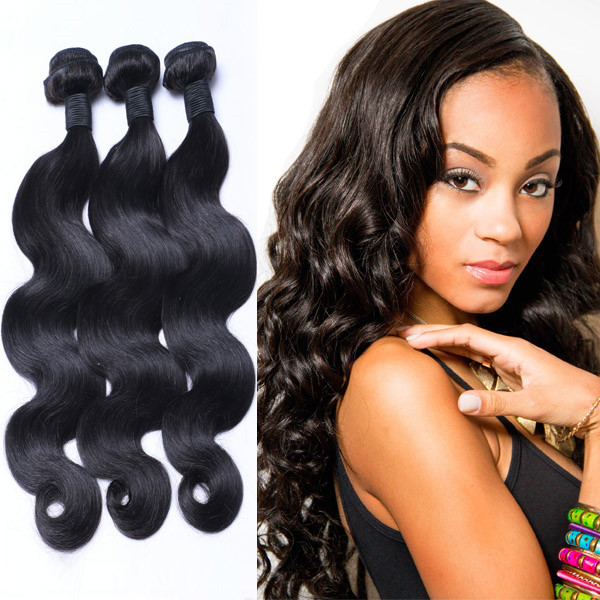 Raw Hair Indian Body Wave Virgin Human Weave Hair Weft Remy Hair Extensions  LM185