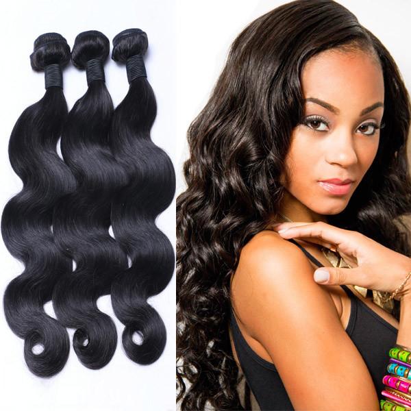 100 Percent Human Hair Material And Virgin Hair Beautiful Body Wave